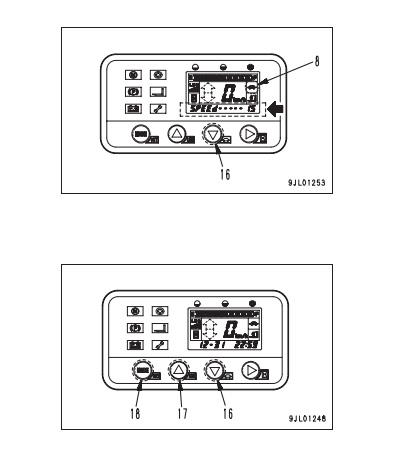 Регулировка скорости Komatsu FB15-12