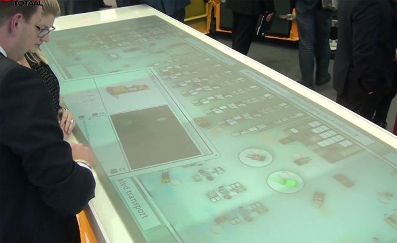 Интерактивная система управления складом. Сенсорный экран
