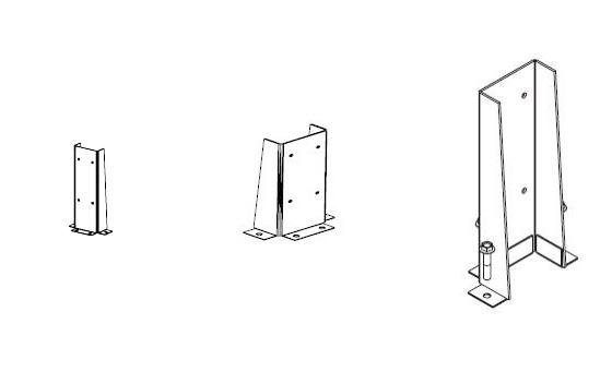 Фронтальные ограждающие конструкции стойки