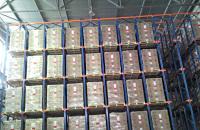 Глубинные набивные стеллажи для склада