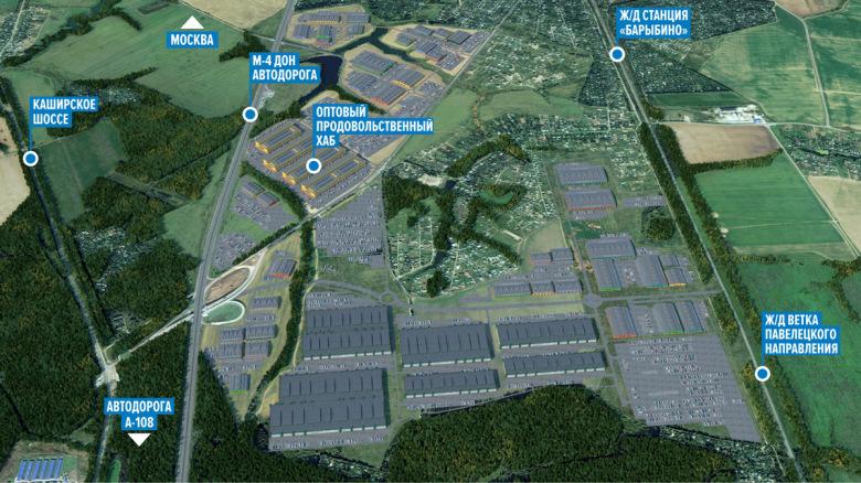 Расположение промышленно-логистического комплекса «Кузьминское»