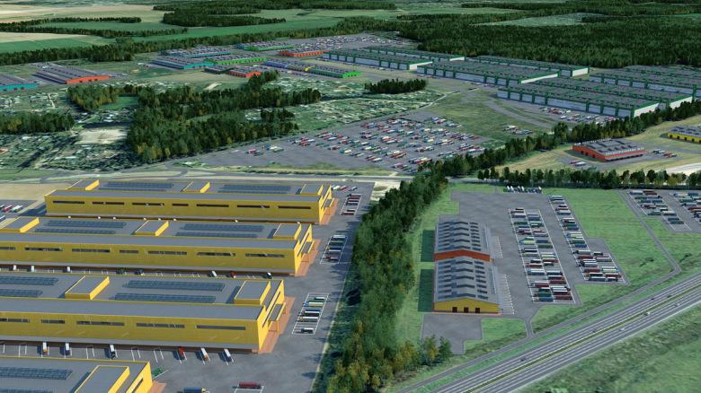 3D-план визуализации промышленно-логистического комплекса «Кузьминское»