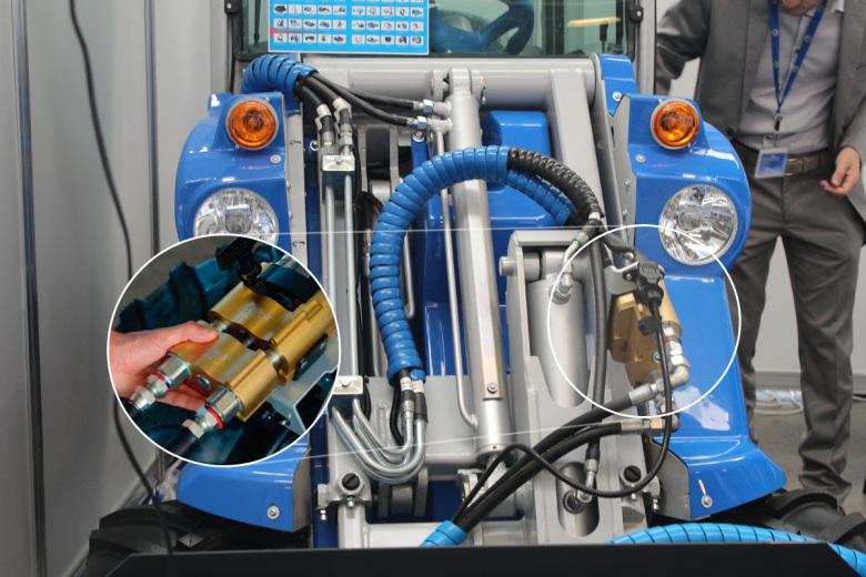 Подключение навесного оборудования через мультиконнектор MultiOne